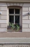 Fenster in der alten Stadt Stockfoto