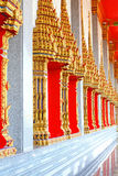 Fenster der buddhis Kirche Stockfoto
