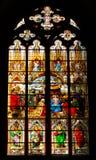 Fenster in der Köln-Kathedrale Stockfotografie