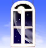 Fenster in der Nacht vektor abbildung