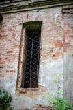 Fenster der ruinierten Kirche von Sankt Nikolaus das Wonderworker Lizenzfreies Stockfoto