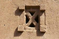 Fenster der stein-gehauenen Kirche, Lalibela, Äthiopien Der meiste populäre Platz in Vietnam Stockbild