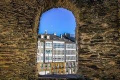Fenster der Wand von Lugo stockfoto