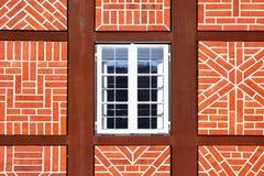 Fenster des alten Hauses Stockbild