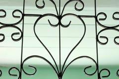 Fenster des bearbeiteten Eisens Stockbilder