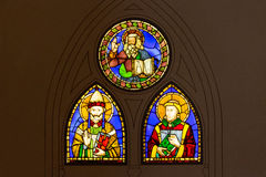 Fenster des Buntglases durch Baldovinetti und Pacino Di Bonaguida stockbild