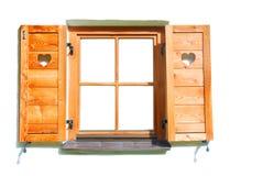Fenster des festen Holzes. Lizenzfreie Stockfotos