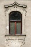 Fenster des historischen barocken Hauses in Slowakei Lizenzfreie Stockbilder