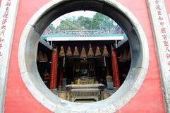 Fenster des Tempels stockfoto