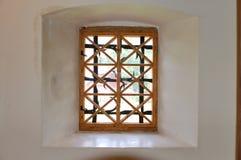 Fenster in einem Kontrollturm. Stockfotos