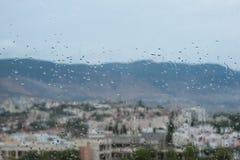 Fenster an einem regnerischen Tag Lizenzfreie Stockfotos