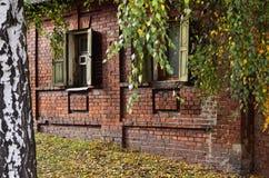 Fenster eines alten russischen Hauses Lizenzfreie Stockfotografie