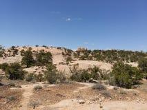 Fenster-Felsen-Spur Stockbild