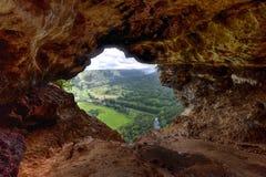 Fenster-Höhle - Puerto Rico Stockfotos