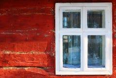 Fenster-Hütte Stockbild