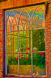 Fenster, Huntington-Schloss, Co Carlow, Irland Lizenzfreie Stockfotografie