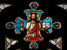 Fenster - Jesus Christus stockfotografie