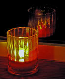 Fenster-Kerze Stockbilder