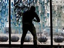 Fenster-Künstler Stockfotografie