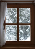 Fenster mit Ansicht Lizenzfreie Stockfotos
