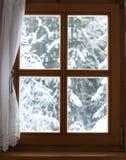 Fenster mit Ansicht Stockfotos