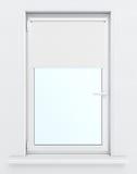 Fenster mit gesenktem Roll-Laden Wiedergabe 3d Lizenzfreie Stockfotos