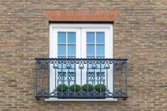 Fenster mit Grünpflanzen lizenzfreies stockbild