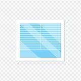 Fenster mit Jalousie auf einem transparenten Hintergrund Lizenzfreies Stockfoto