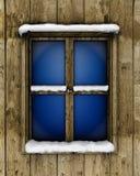 Fenster mit Schnee lizenzfreie abbildung