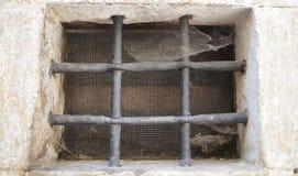 Fenster mit Stäben Lizenzfreie Stockbilder