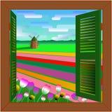 Fenster nach Holland Lizenzfreie Stockbilder