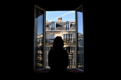 Fenster nach Paris Stockbilder