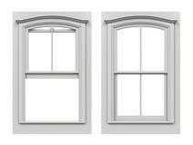 Fenster offen und geschlossen auf wei em hintergrund stock for Fenster offen