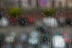 Fenster-Regentropfen - Archivbild Lizenzfreie Stockfotografie
