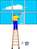 Fenster-Reinigungsmittel Stockfotos