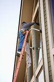 Fenster-Reinigungsmittel/Scheibe lizenzfreies stockbild