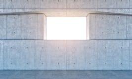 Fenster und Betonmauer Lizenzfreies Stockfoto