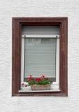 Fenster- und Blumentopf Stockfotos