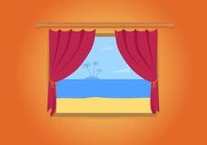 Fenster und Insel Lizenzfreies Stockbild
