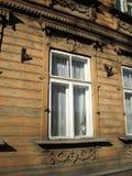 Fenster und Katze Lizenzfreies Stockfoto