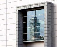 Fenster und Reflexion Stockfotos