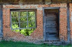 Fenster und Tür Stockbild