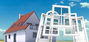 Fenster und Türersatz stock abbildung