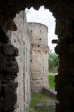Fenster Vedensky-Schloss lizenzfreies stockbild