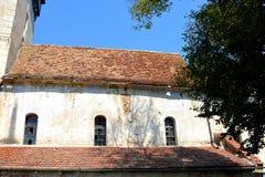 Fenster Verstärkte mittelalterliche sächsische Kirche in Toarcla-Tartlau, Siebenbürgen, Rumänien Lizenzfreies Stockbild