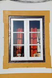 Fenster verziert Lizenzfreies Stockbild