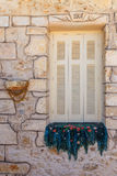Fenster von Kreta Stockfoto