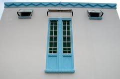 Fenster von Masjid Jamek Dato Bentara Luar in Batu Pahat, Johor, Malaysia Lizenzfreies Stockfoto