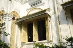 Fenster von Sultan Abu Bakar State Mosque in Johor Bharu, Malaysia Stockfotografie