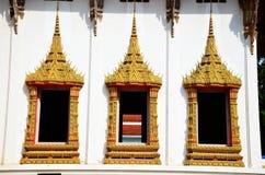 Fenster von Wat Phra Thaen Dong Rang Worawihan Lizenzfreies Stockfoto